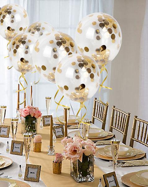 Palloncini a elio con coriandoli oro o altri colori
