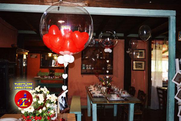 Palloncini Bubble a elio con piume o coriandoli per feste di compleanno ed eventi