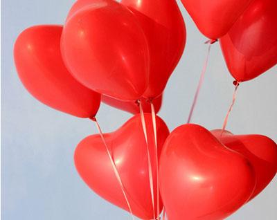 palloncini a elio a forma di cuore