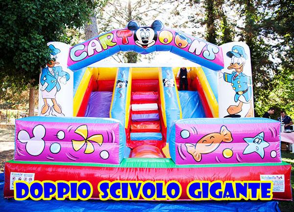 GONFIABILE DOPPIO SCIVOLO GIGANTE