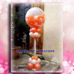 Pallone esplosivo con palloncini