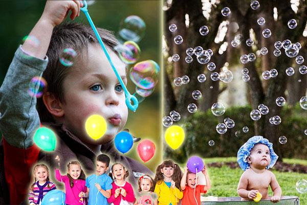Animazione bambini 1-2 anni con bolle di sapone