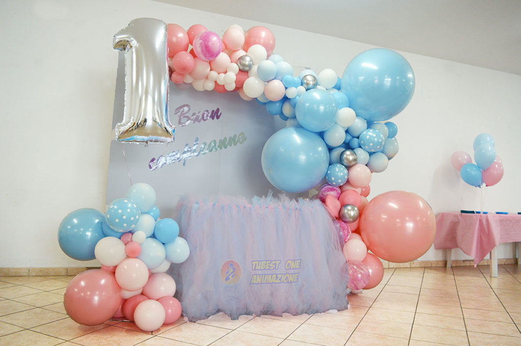 feste bambini di 1 e 2 anni con scenografia di palloncini