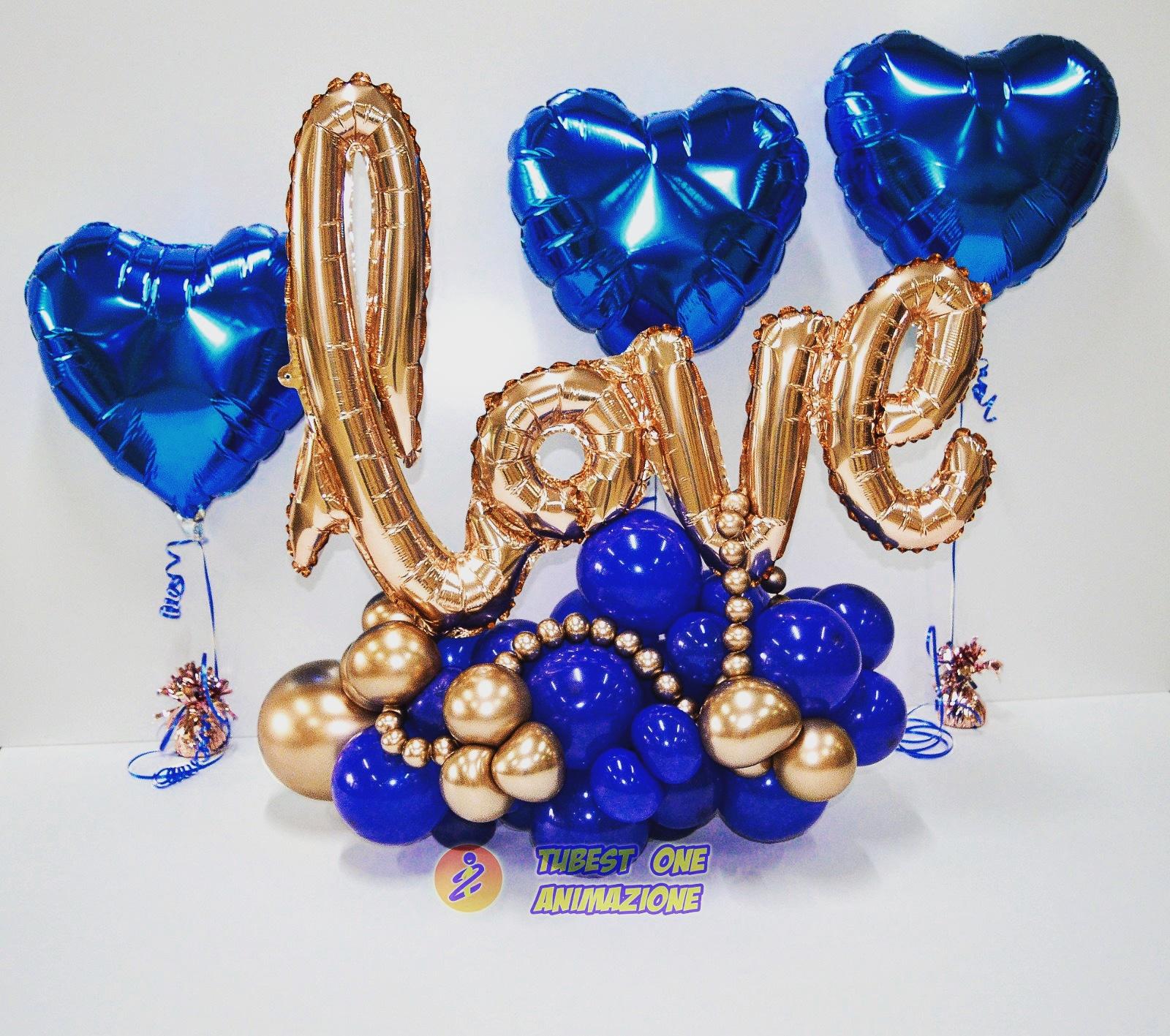 palloncini per San Valentico composizione organic