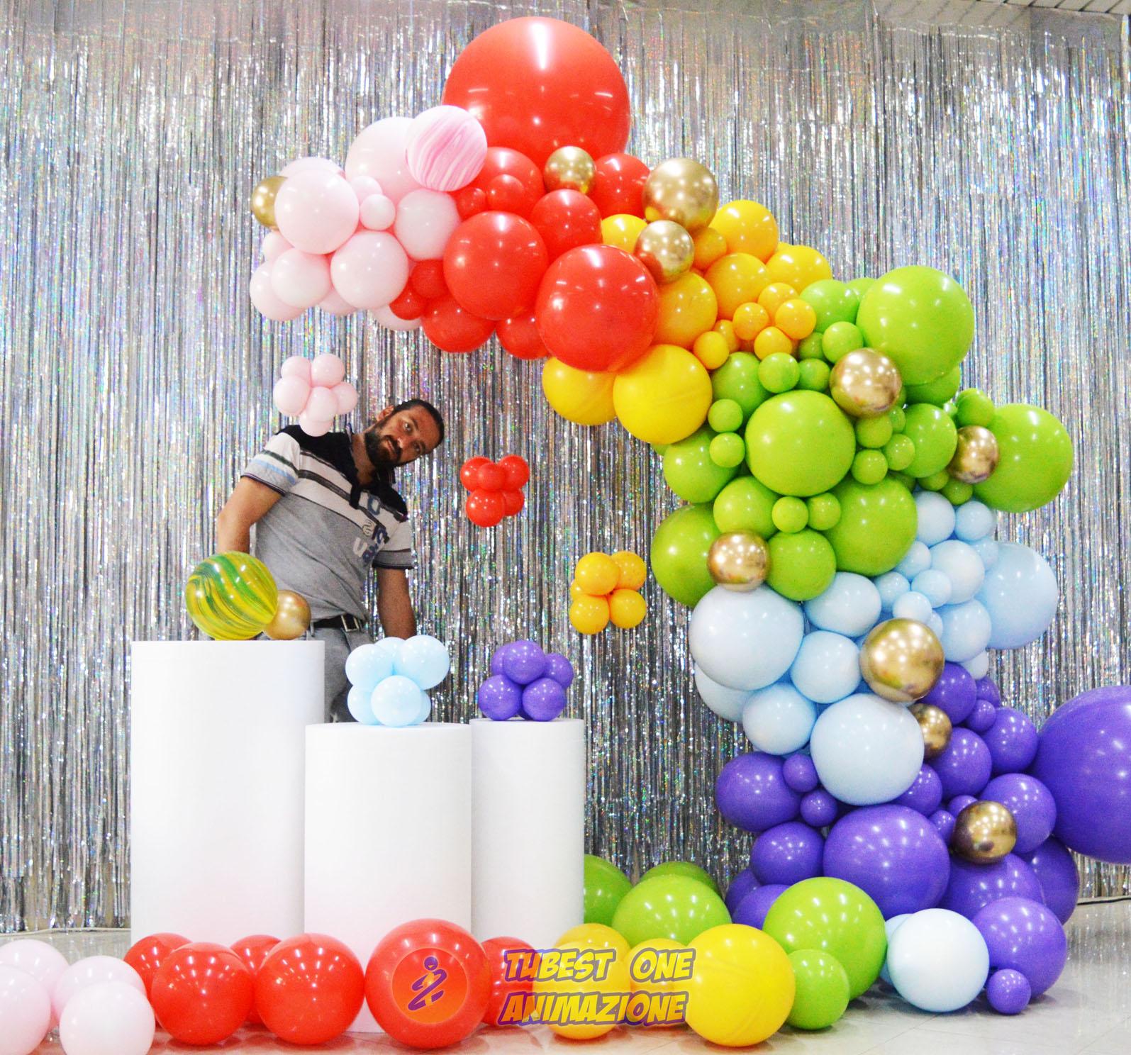 Decorazioni palloncini Semi arco Organic unicorno arcobaleno